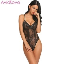 2046be89de Avidlove Lace Women Sexy Lingerie Hot Erotic Plus Size Bodysuit V-Neck Sexy  Underwear Nightwear Sex Porno Clothes 4Colors